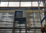 Монтаж воздухонагревателя газового подвесного