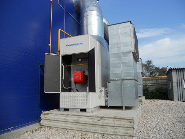 Воздушное отопление на производстве
