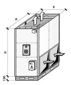 Вертикальный газовый воздухонагреватель EUGEN B стационарный