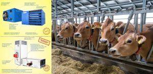 Отопление ферм воздухонагревателями carlieuklima