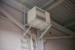 Внутренний монтаж газового воздухонагревателя EUGEN S