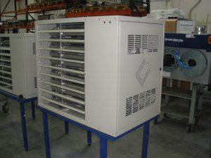 Монтаж воздухонагревателя газового