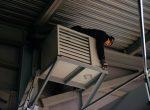 Газовый воздухонагреватель подвесной монтаж